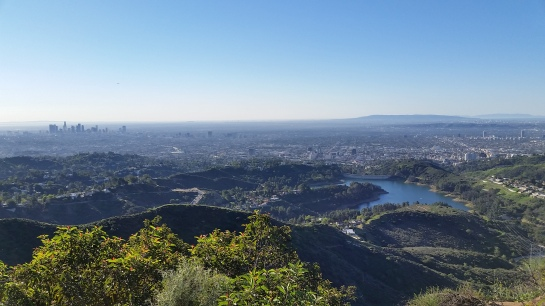 Downtown LA and Lake Hollywood