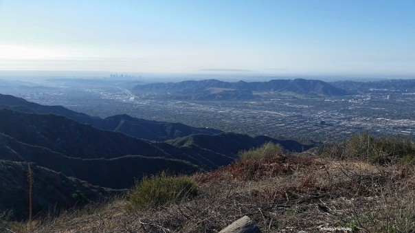 Clear view of downtown LA, Griffith Park and the city of Glendale