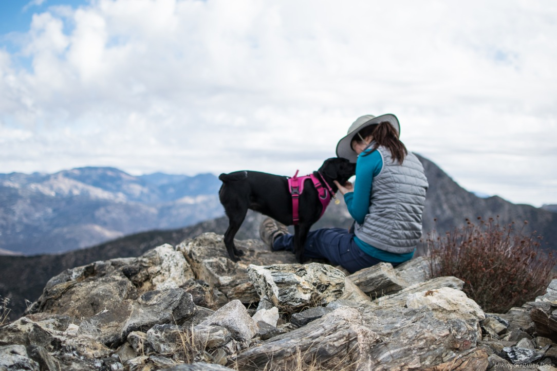 Hiking Girl with Dog